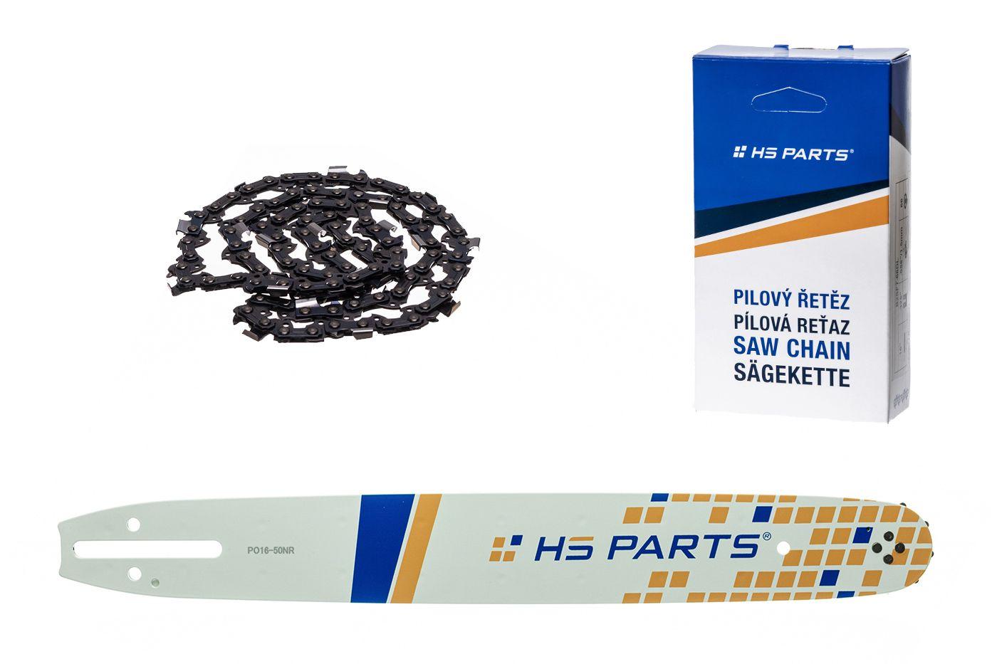 """HS PARTS Akční set vodící lišta 16"""" (40 cm) 3/8"""" .050"""" (1,3 mm) + pilový řetěz 56 čl."""
