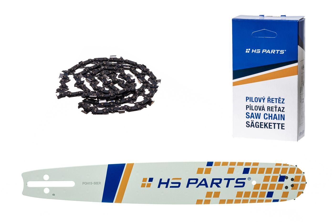 """HS PARTS Akční set vodící lišta 15"""" (38 cm) 3/8"""" .050"""" (1,3 mm) + pilový řetěz 56 čl."""