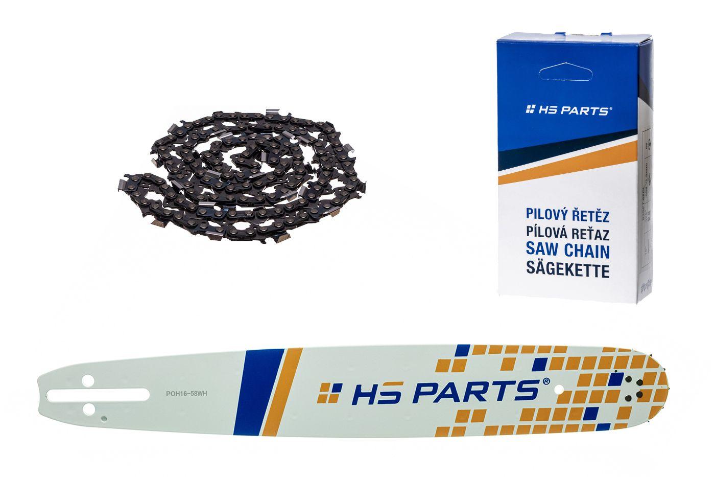 """HS PARTS Akční set vodící lišta 16"""" (40 cm) .325"""" .058"""" (1,5 mm) + pilový řetěz 66 čl."""