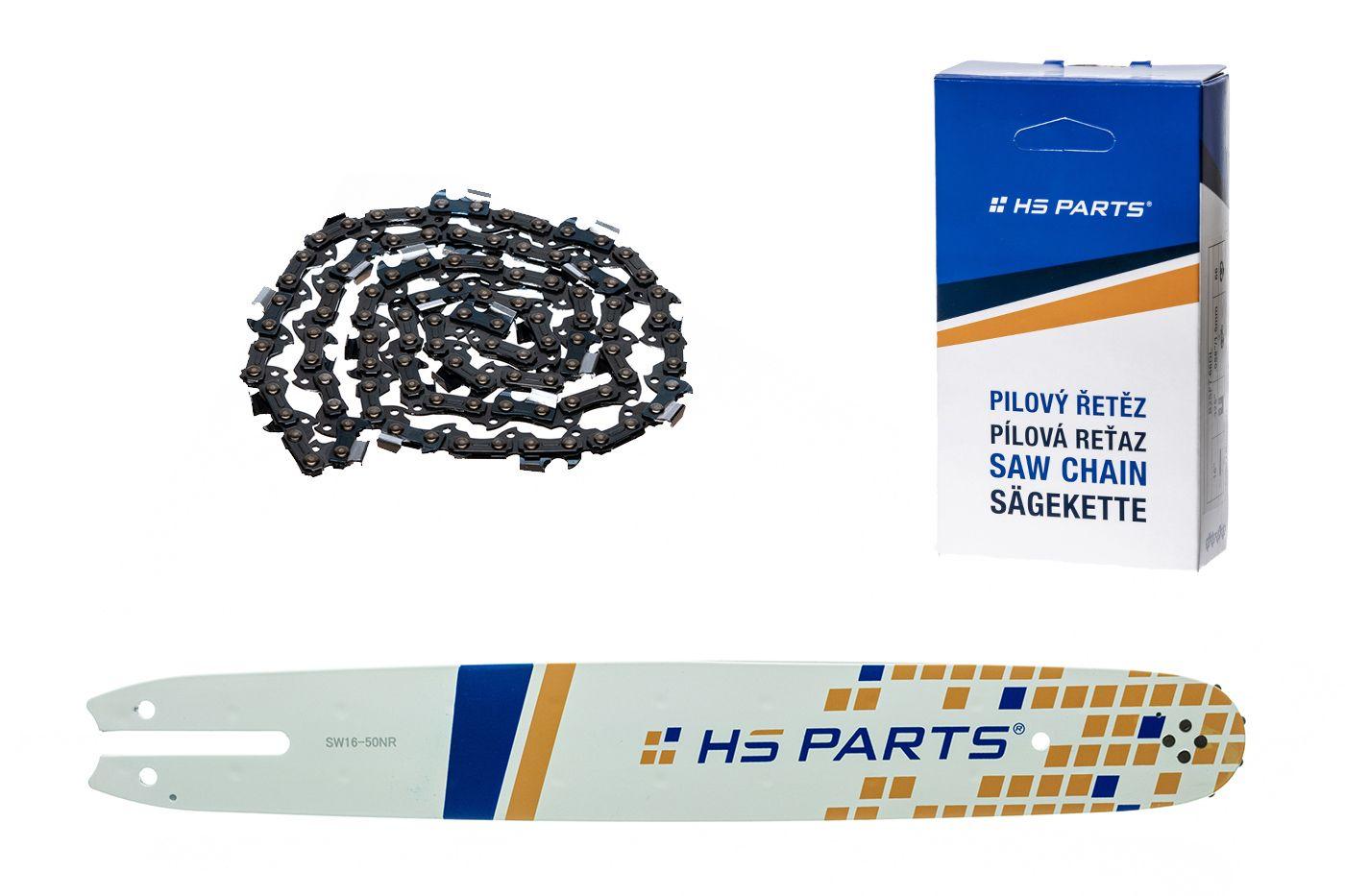 """HS PARTS Akční set vodící lišta 16"""" (40 cm) 3/8"""" .050"""" (1,3 mm) + pilový řetěz 55 čl."""
