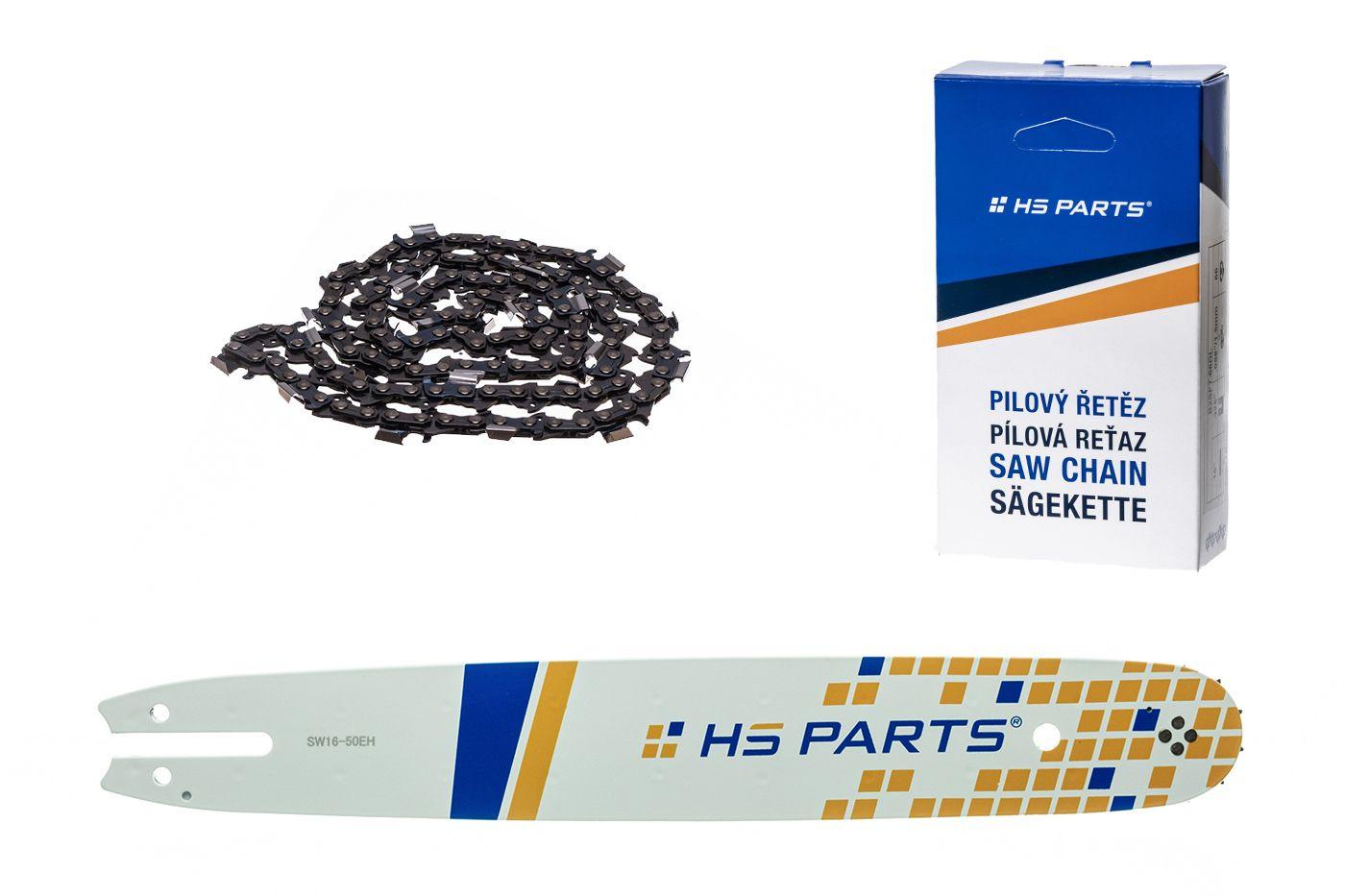 """HS PARTS Akční set vodící lišta 16"""" (40 cm) .325"""" .050"""" (1,3 mm) + pilový řetěz 62 čl."""