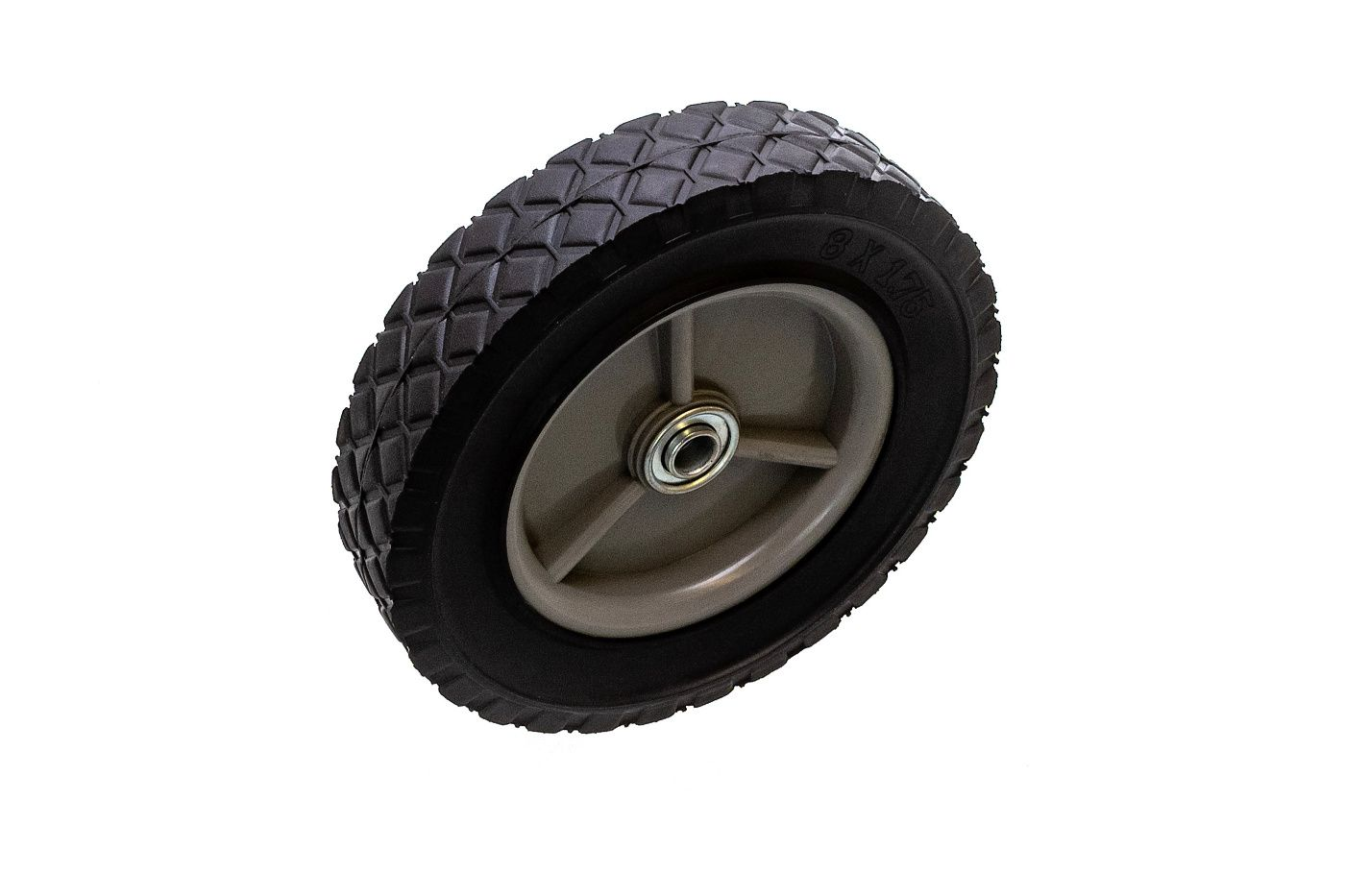 Univerzální kolo 200mm - plastové + ložisko, pryžová pneumatika