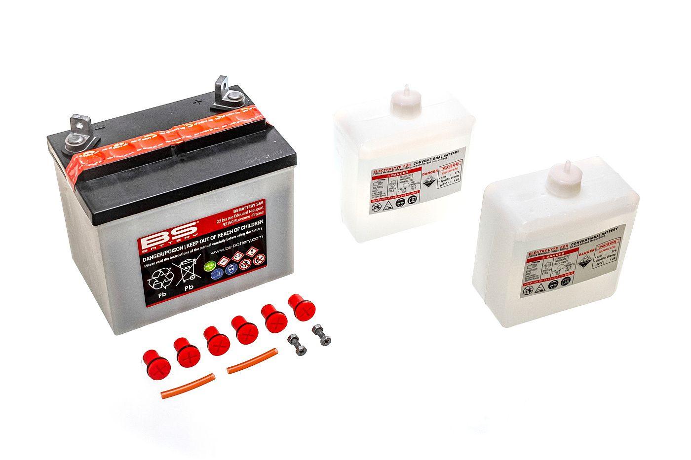 Akumulátor s kyselým elektrolytem 12V 24Ah LEVÝ PLUS