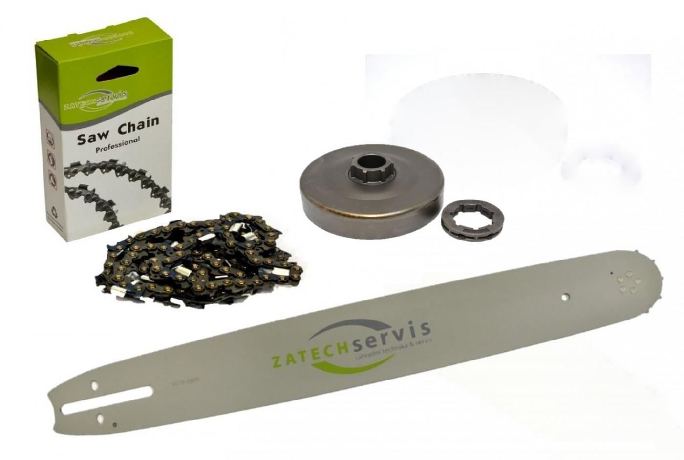 Lišta 40cm + řetěz 60 čánků 3/ 8 1,6mm +řetězka Stihl MS660