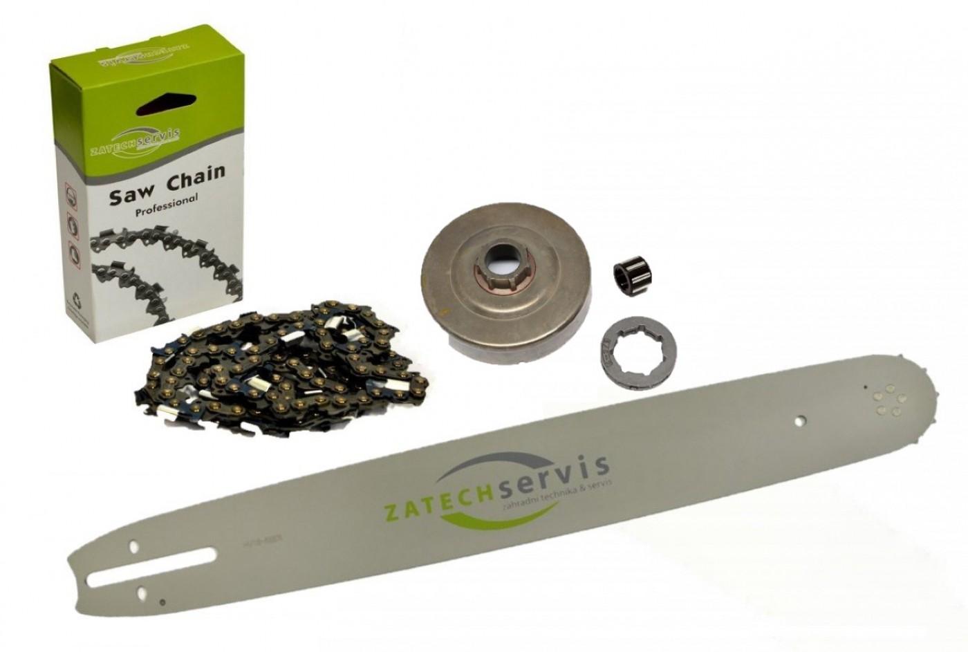 Lišta 40cm + řetěz 60 čánků 3/8 1,6mm + řetězka Stihl MS360