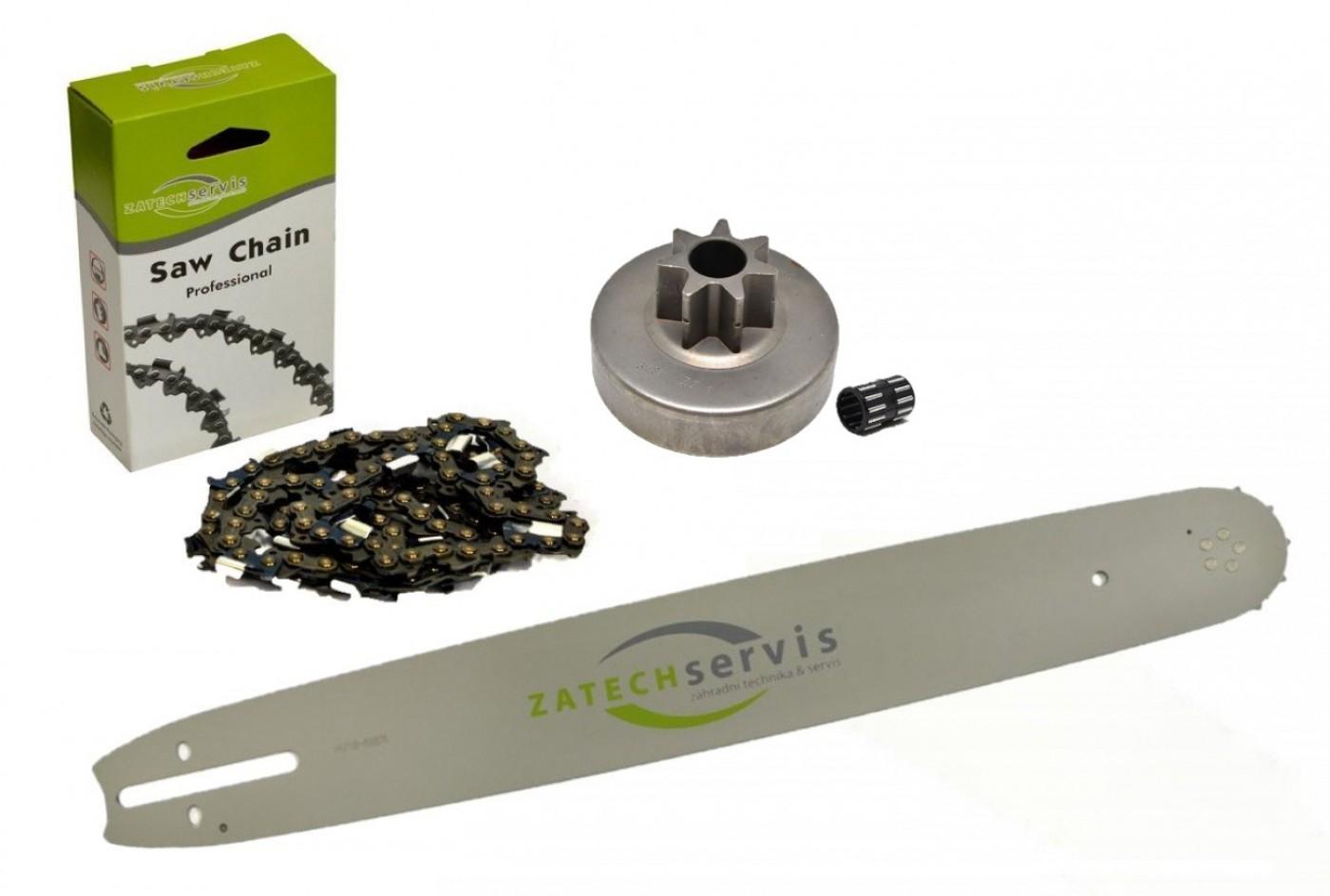 Lišta 38cm + řetěz 56 článků 3/8 1,6mm +řetězka Stihl MS380