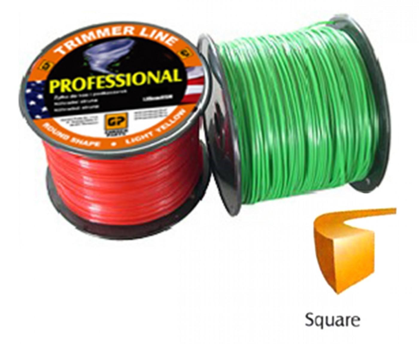 Žací struna univerzální - čtvercová 3,0mm x 252M