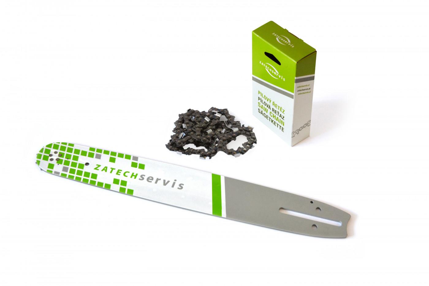 Vodící lišta 40cm + pilový řetěz 60 článků 3/8 1,5mm pro Husqvarnu