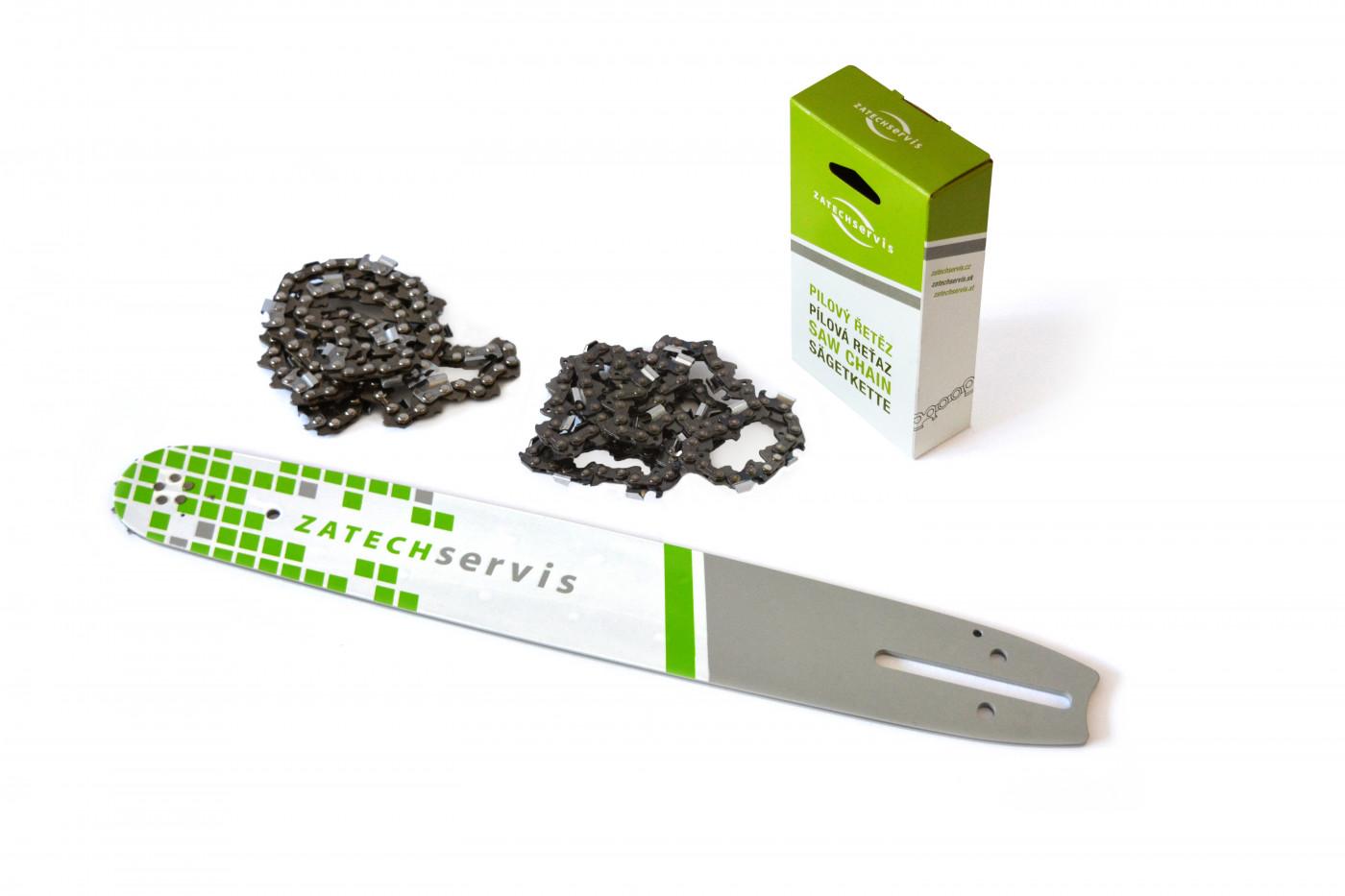 Vodící lišta 40cm + 2x pilový řetěz 60 článků 3/8 1,5mm pro Husqvarnu