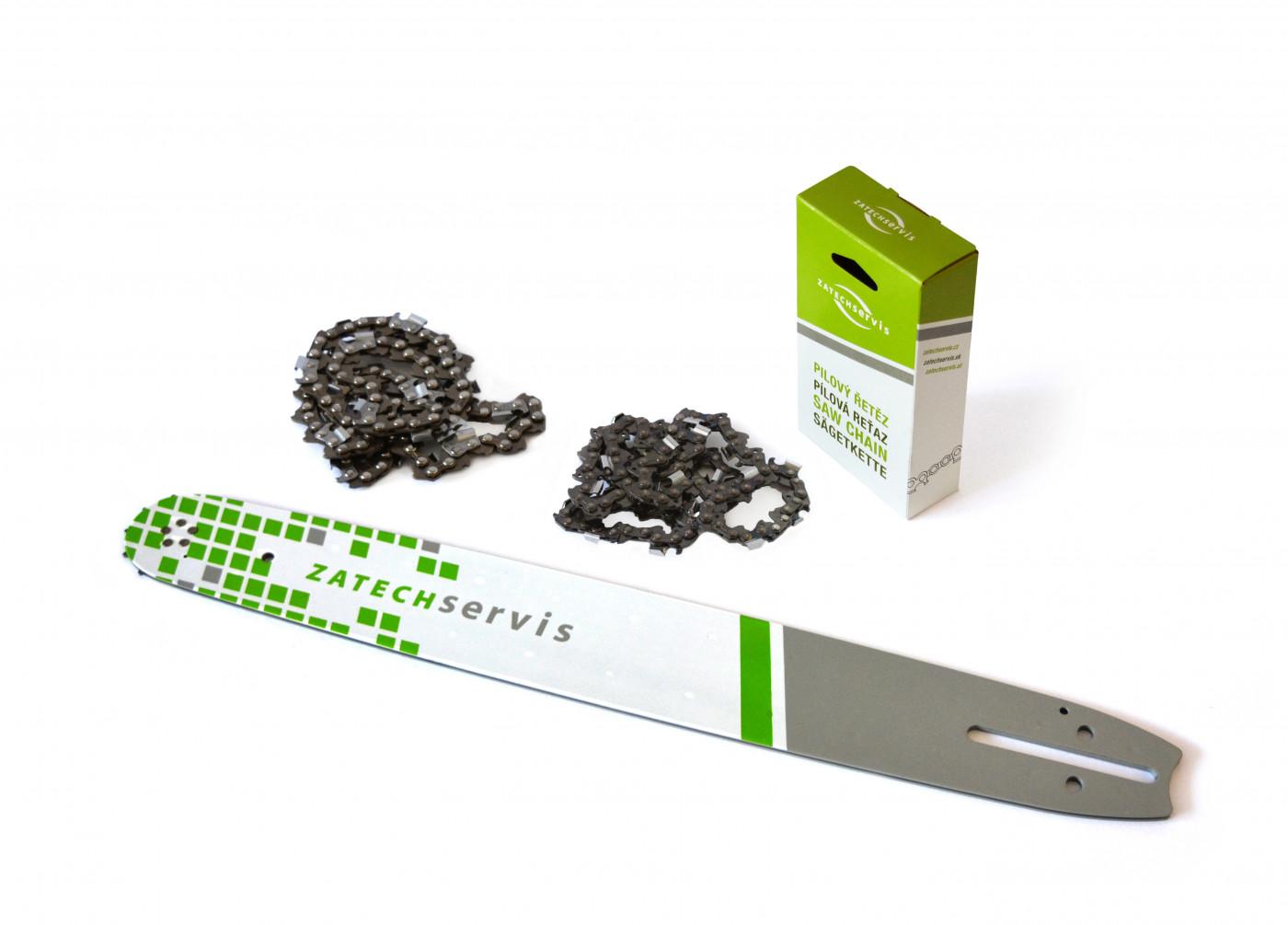 Vodící lišta 45cm + 2x pilový řetěz 68 článků 3/8 1,5 mm pro Husqvarnu