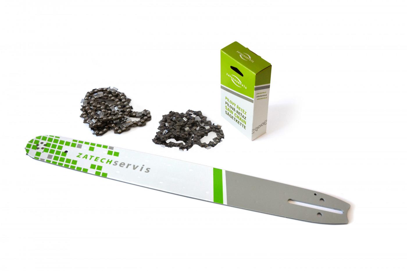 Vodící lišta 50cm + 2x pilový řetěz 72 článků 3/8 1,5mm pro Husqvarnu