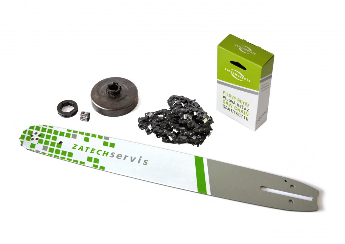 Lišta 45cm + řetěz 68 článků 3/8 1,5 mm + řetězka Husqvarna 268