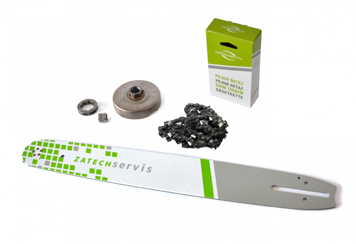 Lišta 50cm + řetěz 72 článků 3/8 1,5mm + řetězka Husqvarna 365