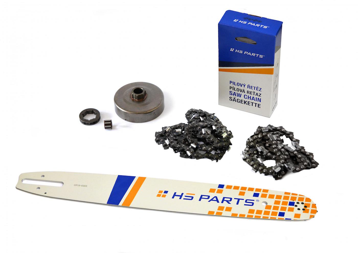 Lišta 45cm + 2x řetěz 66 článků 3/8 1,6mm +řetězka Stihl MS660