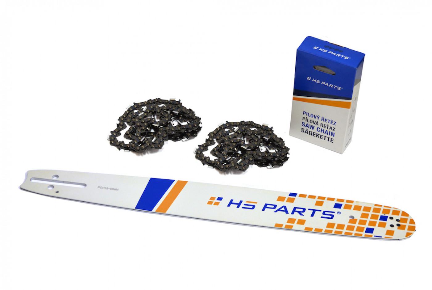 Lišta 45 cm + 2x řetěz 72 článků 325 1,5 mm pro Husqvarnu a jiné