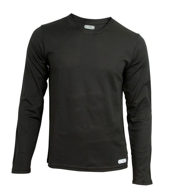 Funkční triko černé - dlouhý rukáv