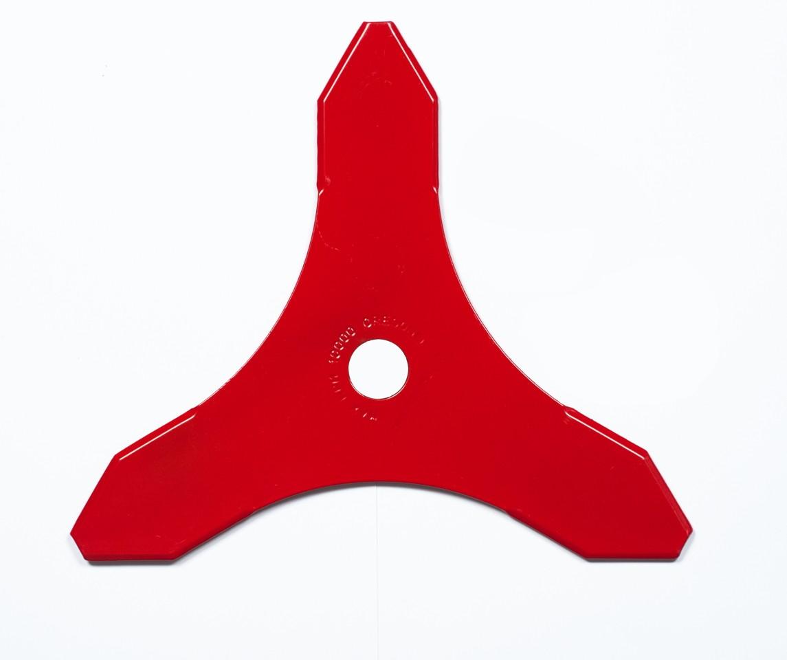 Trojzubý nůž pro křovinořezy  300mm x 3,0mm, střed 20 i 25,4mm