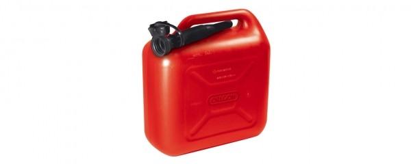 Kanystr na palivo 10L červený s nalévacím hrdlem