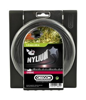 Žací struna NYLIUM STARLINE černé, hvězda 2,7mm x 15m