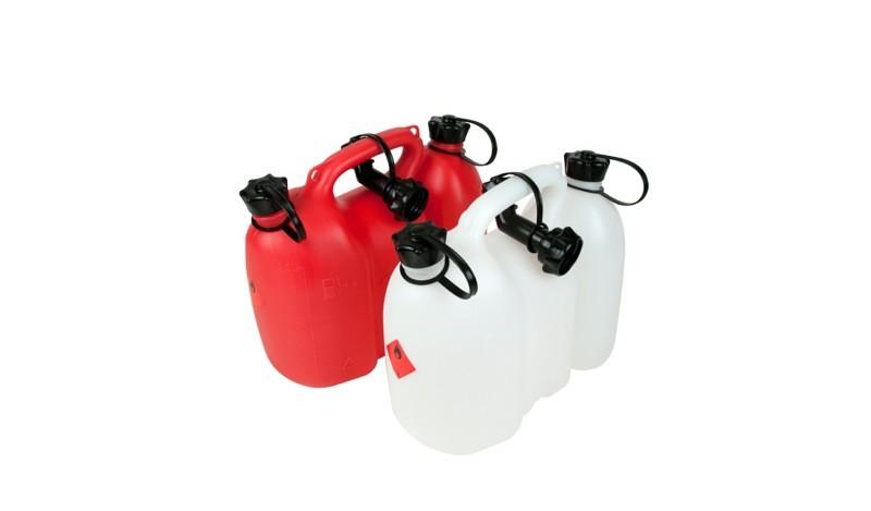 Kombinovaný kanystr 3L/ 1,5L červený s nalévacím hrdlem