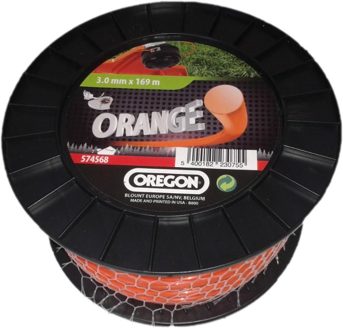 Žací struna oranžová kulatá 2,4 mm x 261m