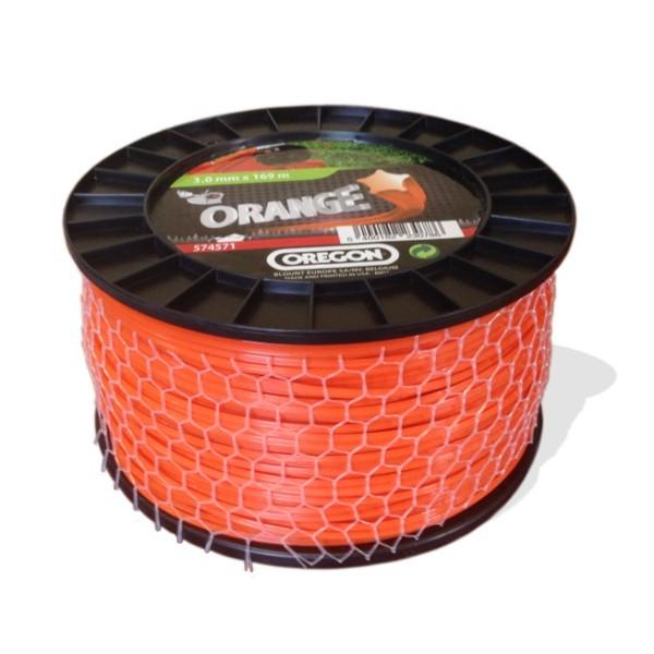 Žací struna oranžová  HVĚZDA  2,4mm x 261m OREGON