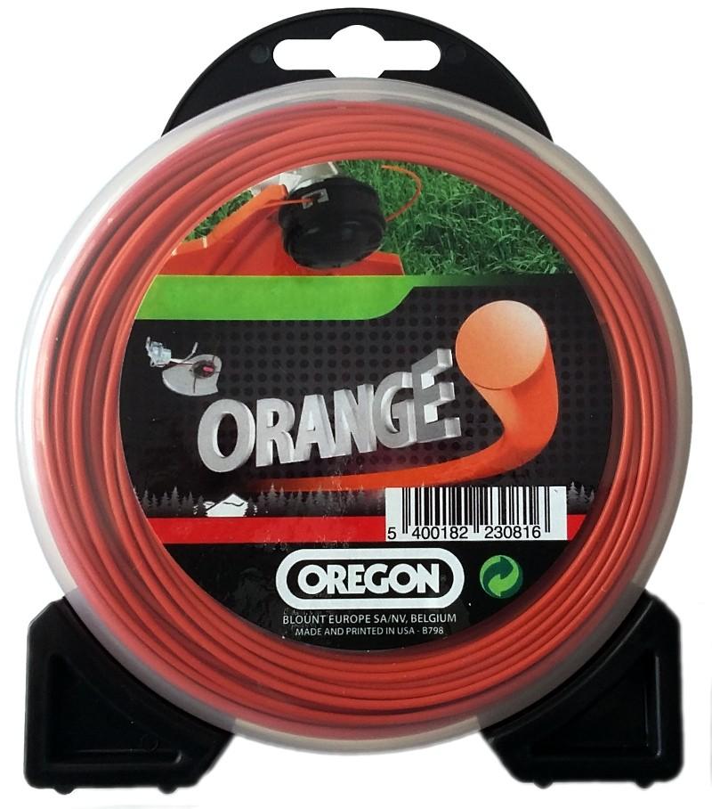 Žací struna oranžová kulatá 2,0mm x 15m