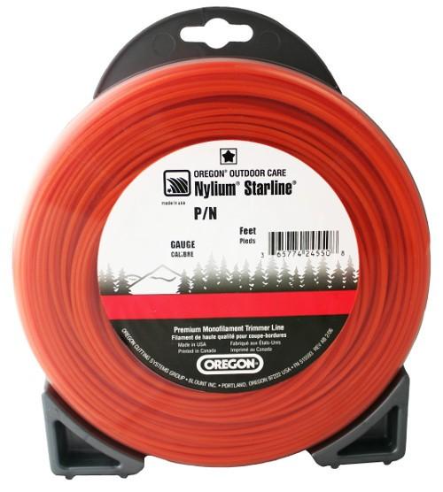 Žací struna oranžová  HVĚZDA  2,4mm x 15m