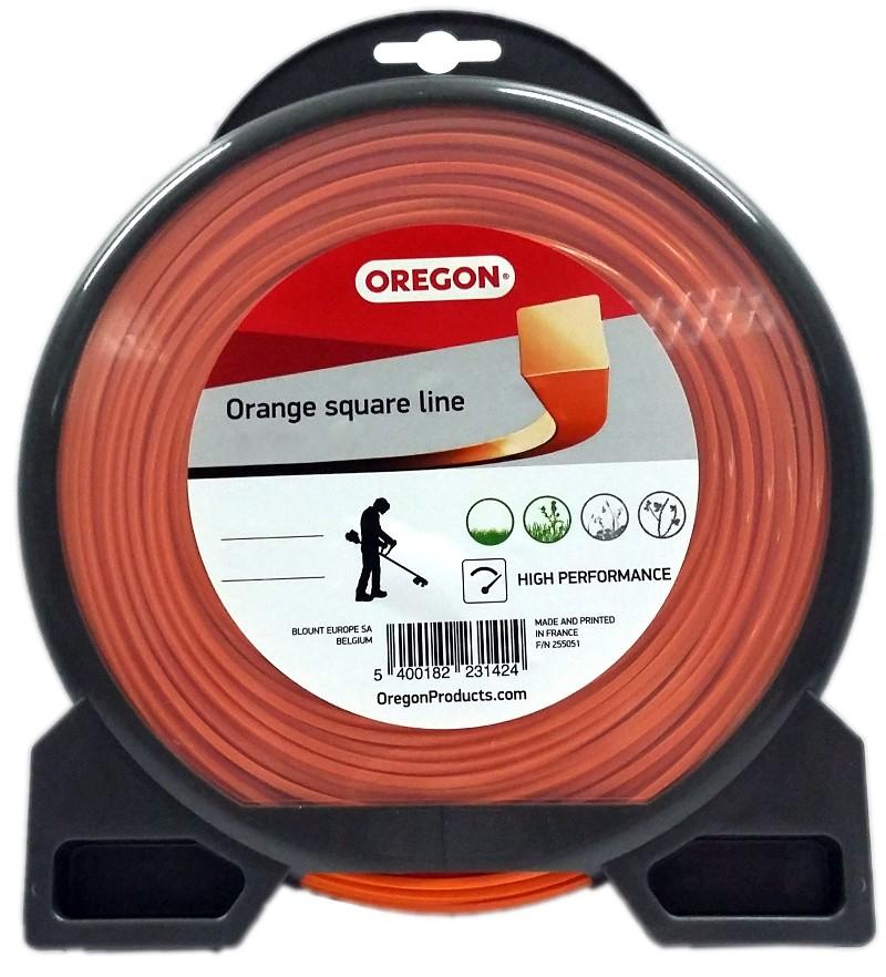 Žací struna oranžová čtverec 2,7 mm x 56m
