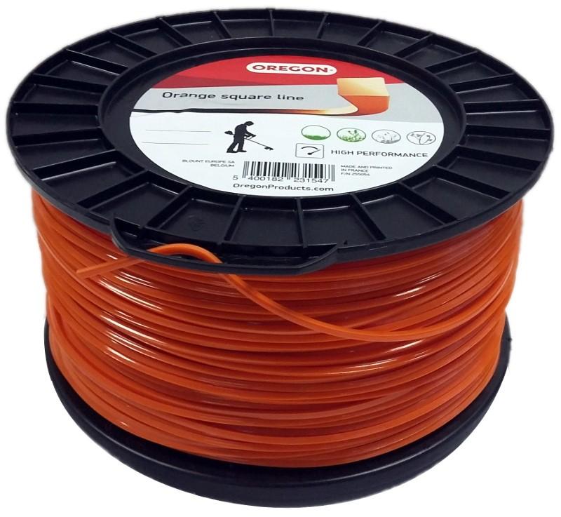 Žací struna oranžová čtverec 3,0mm x 132m OREGON