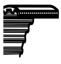 Klínový řemen Castelgarden TC102,Solo 570,Stiga Estste 102 - pohon nože (1600DS8M20) (35065600)