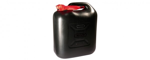 Kanystr na palivo 20L černý s nalévacím hrdlem