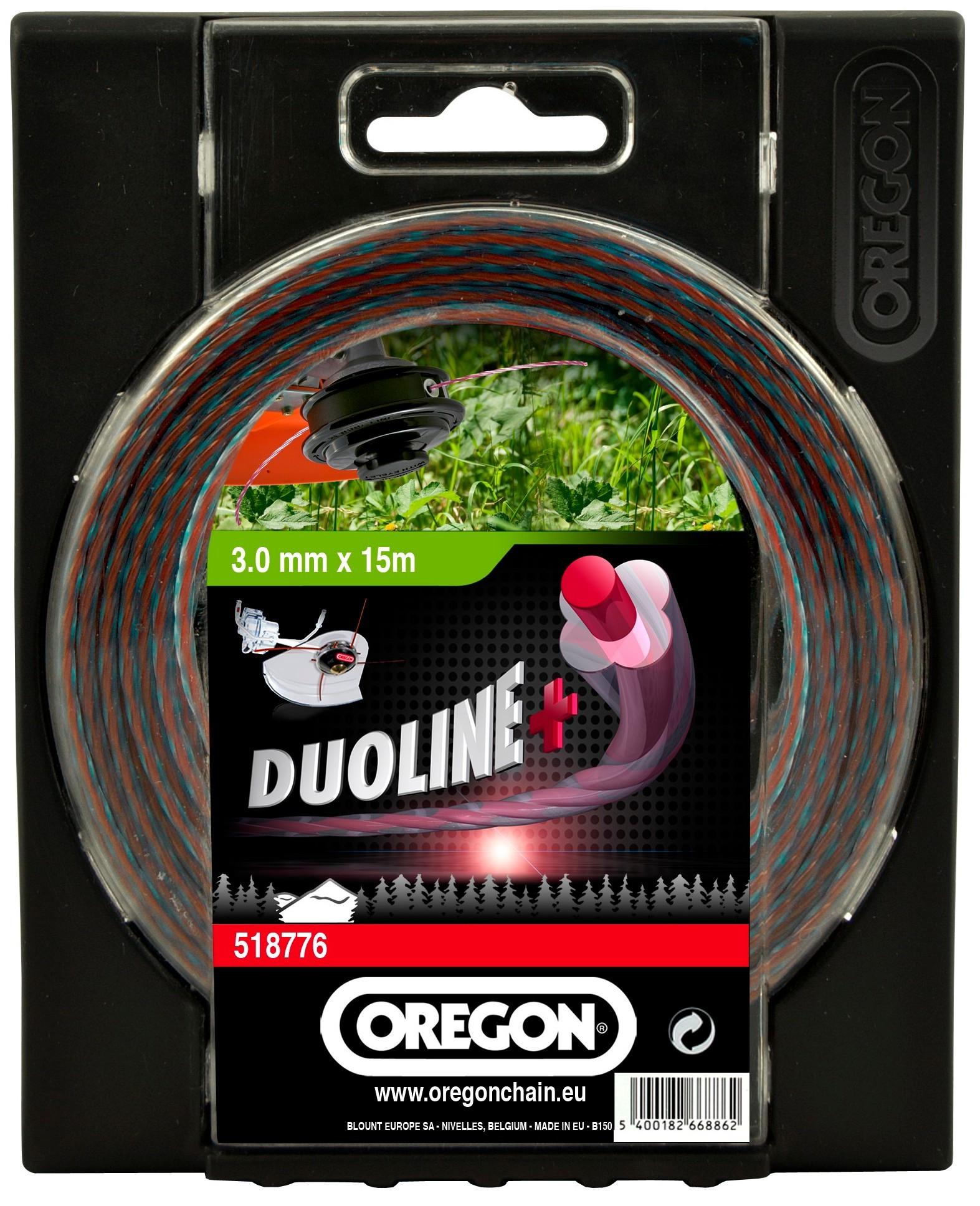 Žací struna DUOLINE PLUS - bezhlučná 3,5mm x 40m OREGON