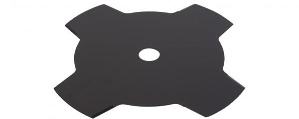Ocelový nůž pro křovinořezy 4-zubý - 255mm x 1,6mm, montáž 20mm