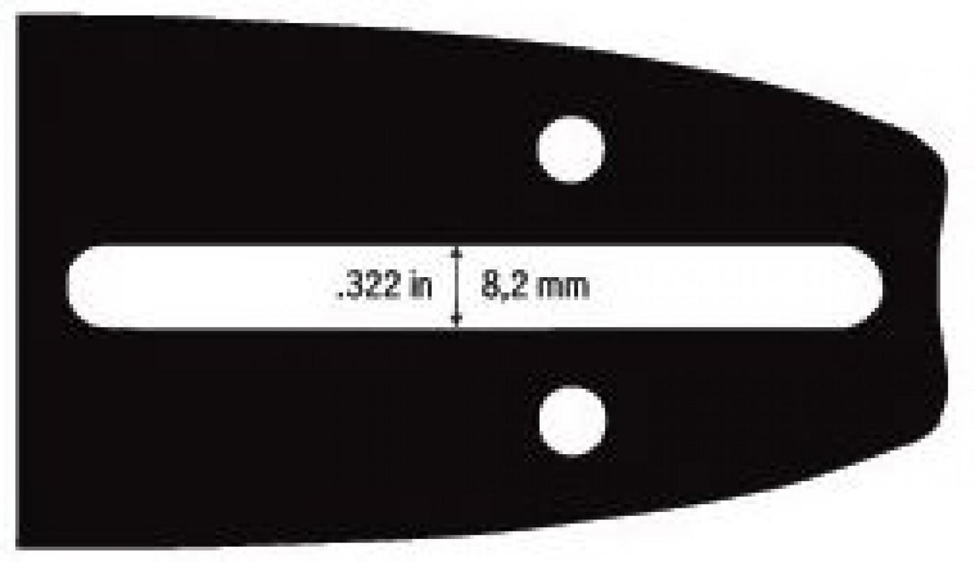 """Vodící lišta 14"""" (35 cm) 3/8"""" .050""""/1,3 mm 52 čl."""