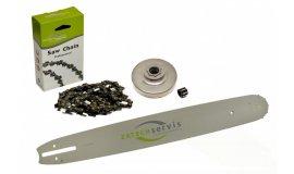 Lišta 45cm + řetěz 66 článků 3/8 1,6mm +řetězka Stihl MS361
