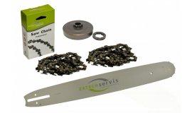 Lišta 40cm + 2x řetěz 60 článků 3/8 1,6mm + řetězka Stihl MS660