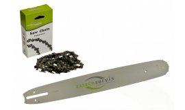 Lišta 35cm + pilový řetěz 3/8, 1,3mm - 52 článků + řetězka pro Partner 350 351