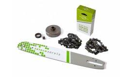 Lišta 38cm + 2x řetěz 56 článků 3/8 1,6mm + řetězka Stihl MS660