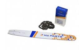 Vodící lišta 45cm + pilový řetěz 68 článků 3/8 1,5 mm pro Husqvarnu