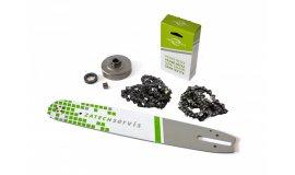 Lišta 38cm + 2x řetěz 56 článků 3/8 1,6mm +řetězka Stihl MS360