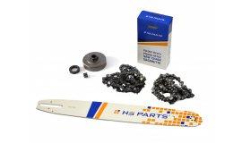Lišta 45cm + 2x řetěz 66 článků 3/8 1,6mm+ řetězka Stihl MS360
