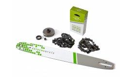 Lišta 50cm +2x řetěz 72 článků 3/8 1,6 mm+ řetězka Stihl MS361