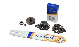 Lišta 38cm + 2x řetěz 56 článků 3/8 1,5mm+ řetězka  Husqvarna 268