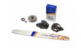 Lišta 50cm + 2x řetěz 72 článků 3/8 1,5mm + řetězka Husqvarna 365